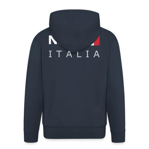 NAP ITALIA white-lettered 400 dpi - Men's Premium Hooded Jacket