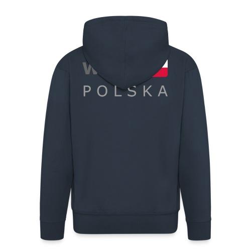WAW POLSKA dark-lettered 400 dpi - Men's Premium Hooded Jacket