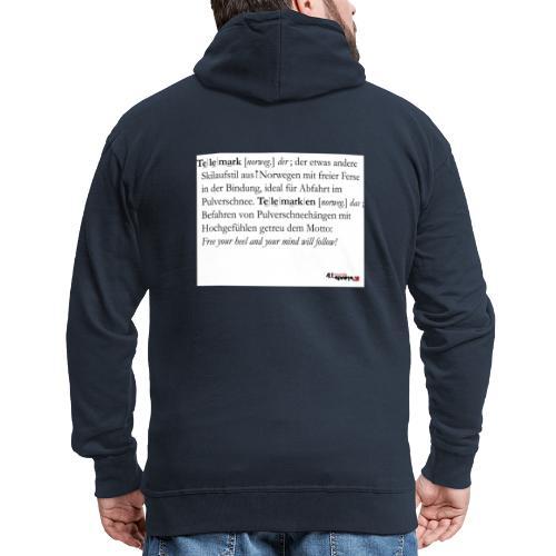 Telemark - die Definition - Männer Premium Kapuzenjacke