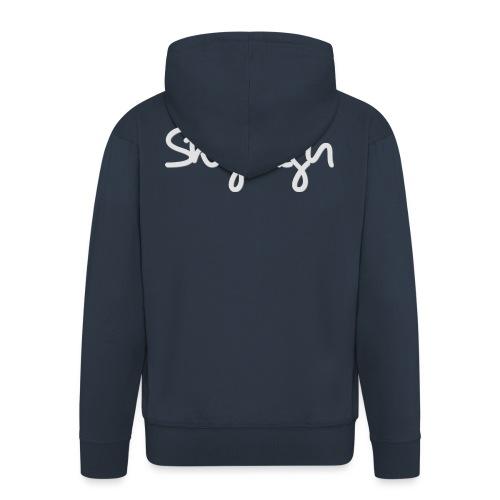 SkyHigh - Women's Hoodie - Gray Lettering - Men's Premium Hooded Jacket