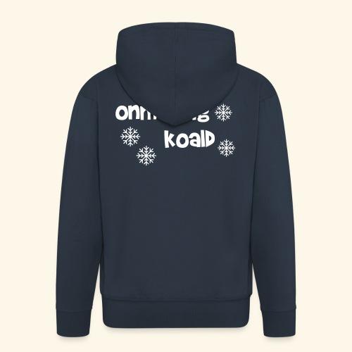 oh oh oh wat is het koud - Mannenjack Premium met capuchon