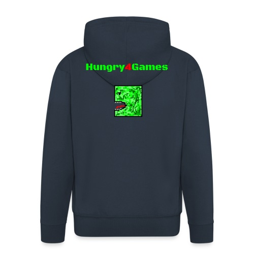 A mosquito hungry4games - Men's Premium Hooded Jacket