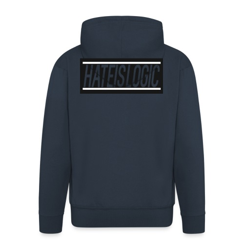 Hateislogic Official Brand - Men's Premium Hooded Jacket