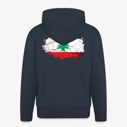 Libanon Libanesische Flagge - Männer Premium Kapuzenjacke