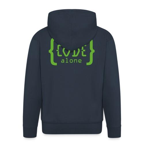 Never Code Alone Logo - Männer Premium Kapuzenjacke