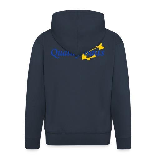 Quality Baits Logo - Men's Premium Hooded Jacket