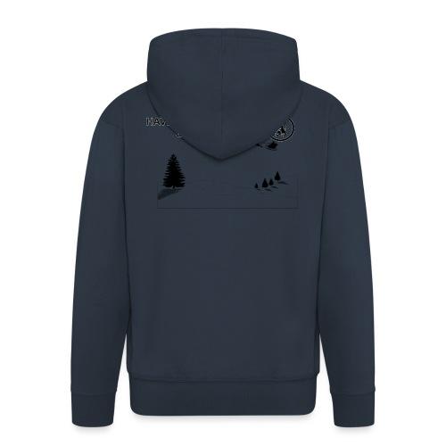 Claret and Blue Xmas - Men's Premium Hooded Jacket