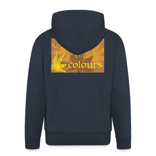 autumn imprint - Rozpinana bluza męska z kapturem Premium