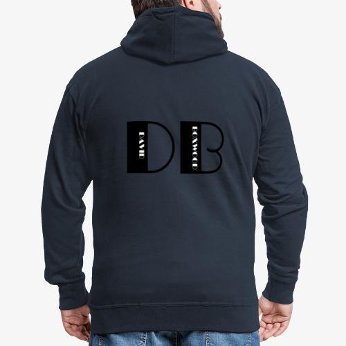 D OF DAVID, B OF BOXWOOD - Felpa con zip Premium da uomo