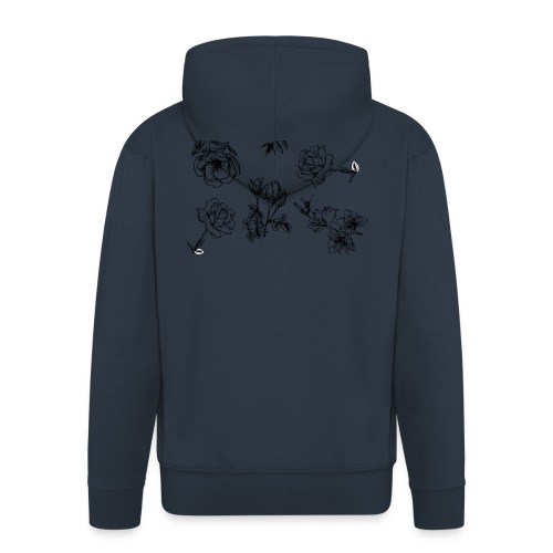 Floral Black and White - Premium-Luvjacka herr