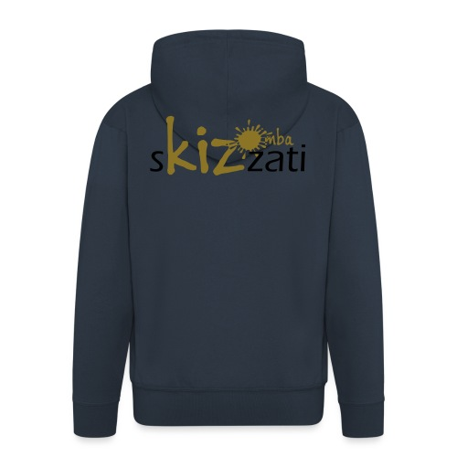 Beanie in jersey con logo sKizzati Kizomba - Verde - Felpa con zip Premium da uomo
