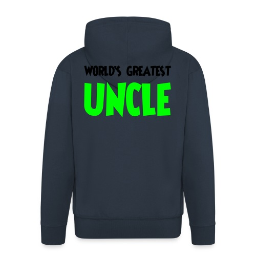 World's greatest uncle - Men's Premium Hooded Jacket