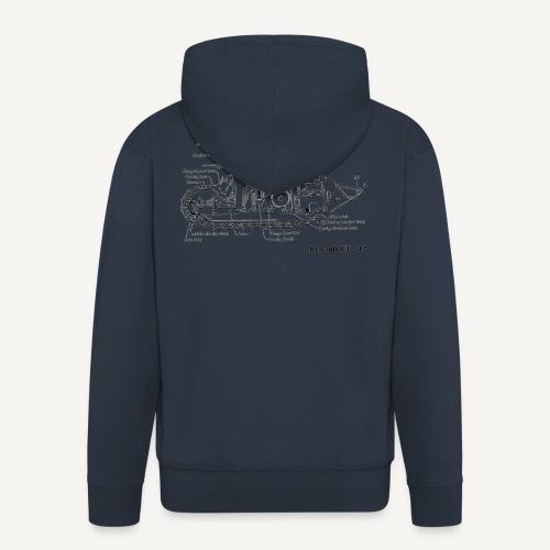 ft17 - Rozpinana bluza męska z kapturem Premium