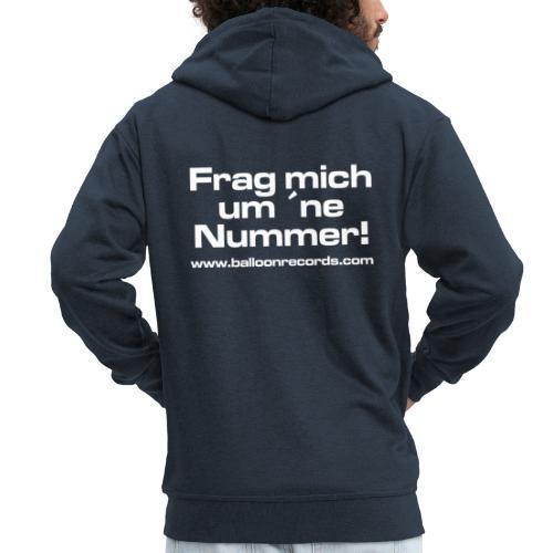 Frag Mich um ne Nummer (weiss) - Männer Premium Kapuzenjacke