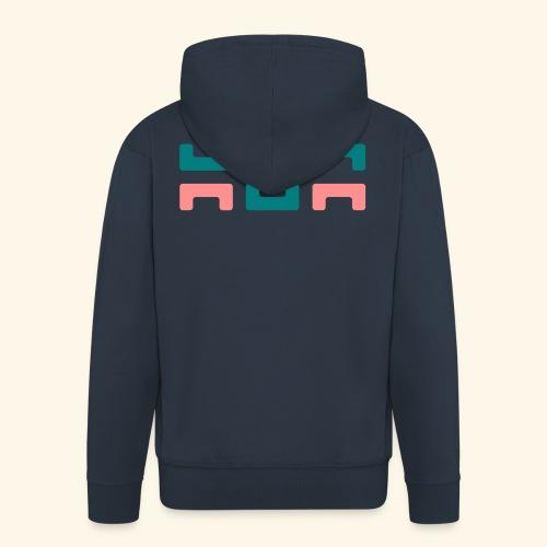 Hoa original logo v2 - Men's Premium Hooded Jacket