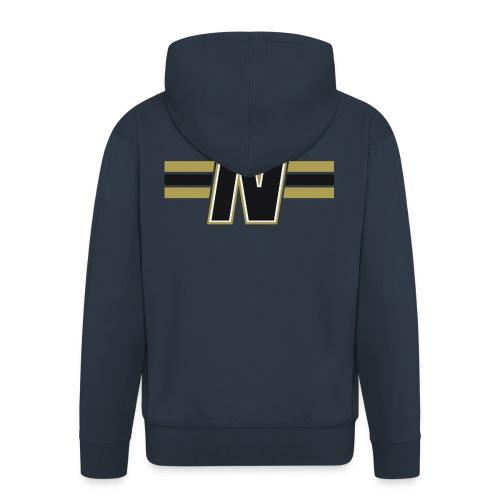 Nordic Steel Black N with stripes - Men's Premium Hooded Jacket