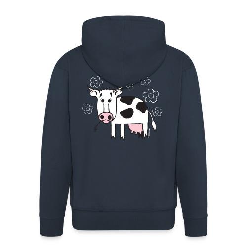 10-1A FUN COW - HAUSKA LEHMÄ Textiles and Gifts - Miesten premium vetoketjullinen huppari