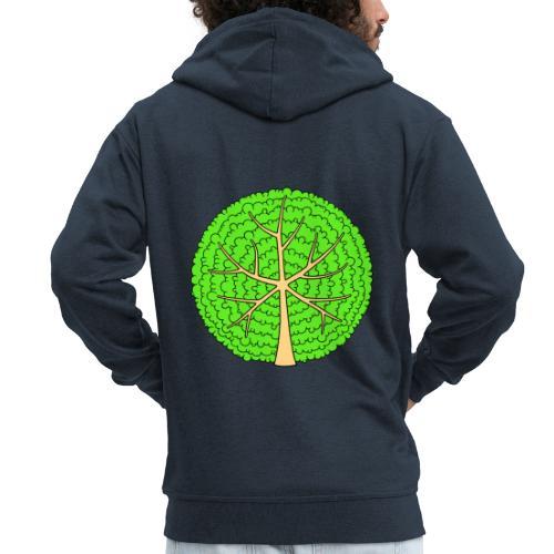 Baum, rund, hellgrün - Männer Premium Kapuzenjacke