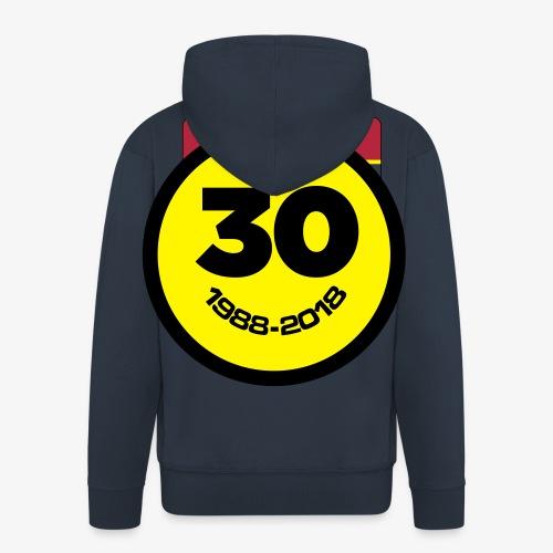 30 Jaar Belgian New Beat Smiley - Mannenjack Premium met capuchon