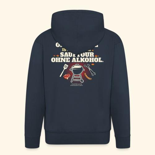 Grill T Shirt Grillen ohne Kohle cooler Spruch - Männer Premium Kapuzenjacke