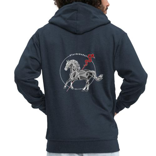Pferdemodul grey - Männer Premium Kapuzenjacke