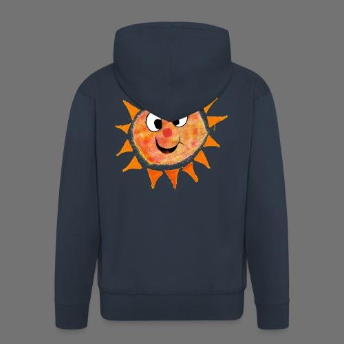 Słońce - Rozpinana bluza męska z kapturem Premium