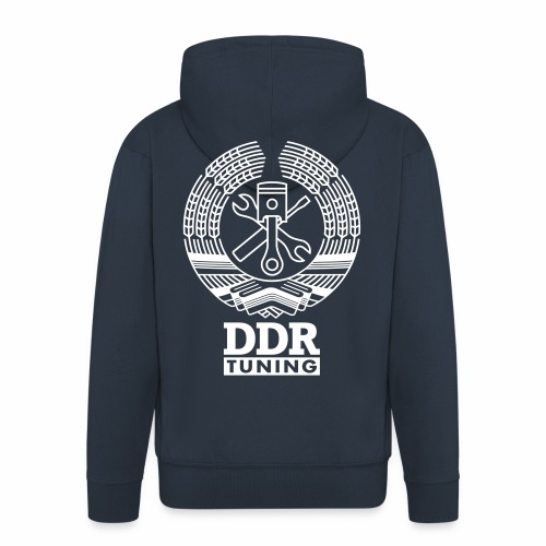DDR Tuning Coat of Arms 1c - Men's Premium Hooded Jacket