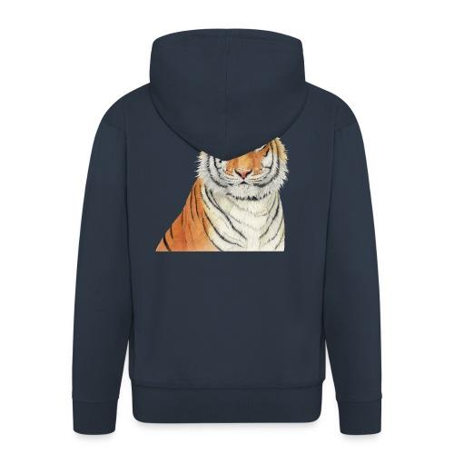 Tigre,Tiger,Wildlife,Natura,Felino - Felpa con zip Premium da uomo