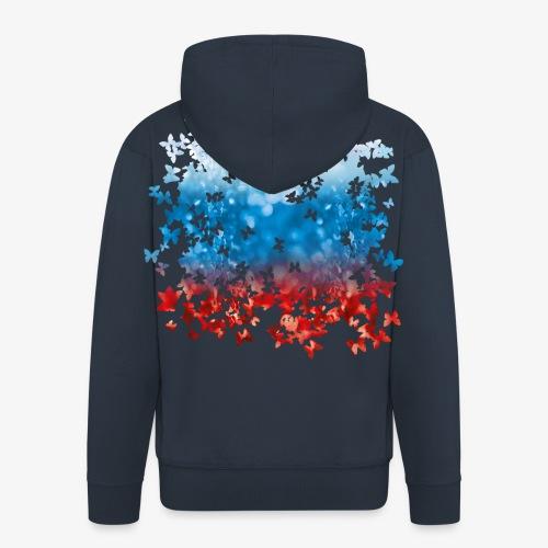 06 Russland Flagge Fahne Russia Schmetterlinge - Männer Premium Kapuzenjacke