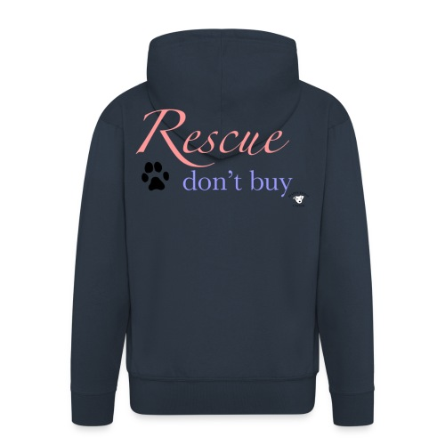 Rescue don't buy - Men's Premium Hooded Jacket