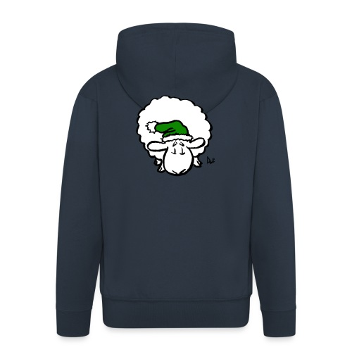 Santa Sheep (green) - Men's Premium Hooded Jacket