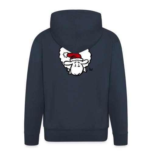 Santa Sheep (red) - Men's Premium Hooded Jacket