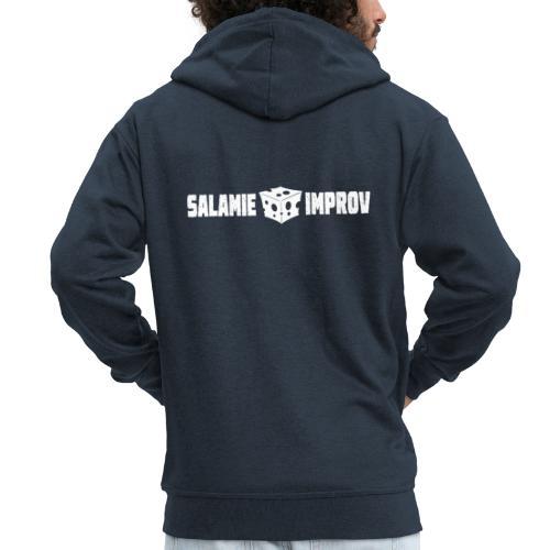 Salamie Improv + Logo (White official) - Mannenjack Premium met capuchon