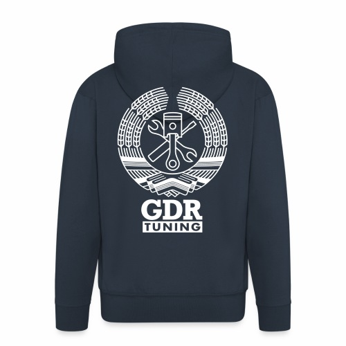 GDR Tuning Coat of Arms 1c - Men's Premium Hooded Jacket