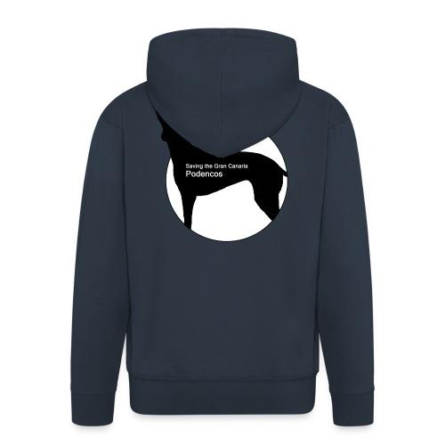 SGCP LOGO WHITE CENTRE - Men's Premium Hooded Jacket