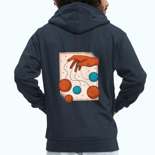 Planets On A String - Men's Premium Hooded Jacket