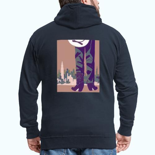 Texas vintage travel poster - Men's Premium Hooded Jacket