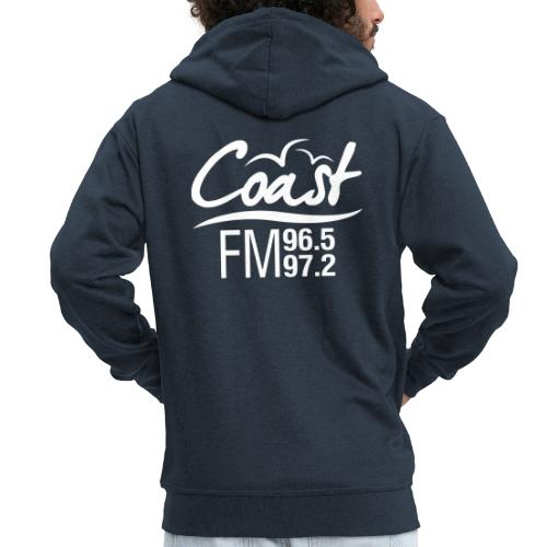 Coast FM single colour logo - Men's Premium Hooded Jacket