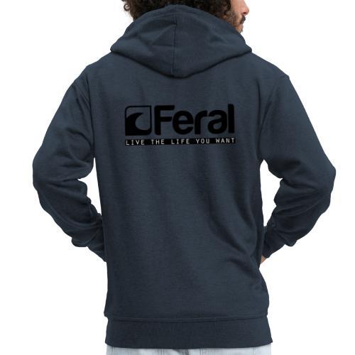 Feral Surf - Live the Life - Black - Men's Premium Hooded Jacket