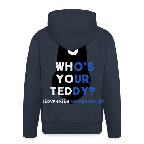 teddy sinivalk - Miesten premium vetoketjullinen huppari