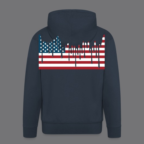 USA FLAG Tee Shirts - Men's Premium Hooded Jacket
