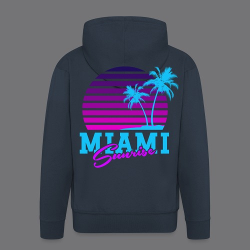MIAMI SUNRISE t-shirts - Men's Premium Hooded Jacket
