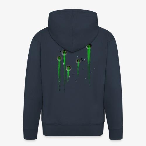 Matrix t-shirt | Web | Geek | Bullet wounds - Men's Premium Hooded Jacket
