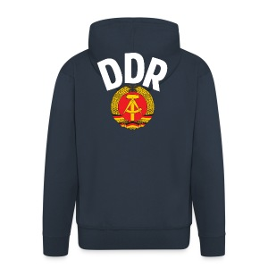DDR - German Democratic Republic - Est Germany - Men's Premium Hooded Jacket