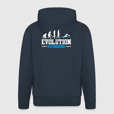 EVOLUTION SWIMMING - Männer Premium Kapuzenjacke