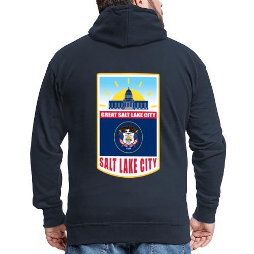 Utah - Salt Lake City - Men's Premium Hooded Jacket