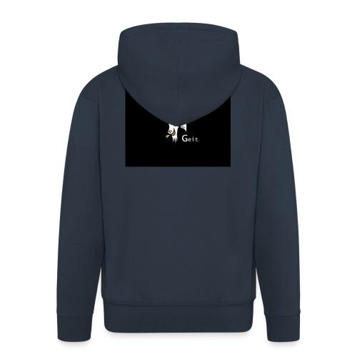 witte geit - Mannenjack Premium met capuchon