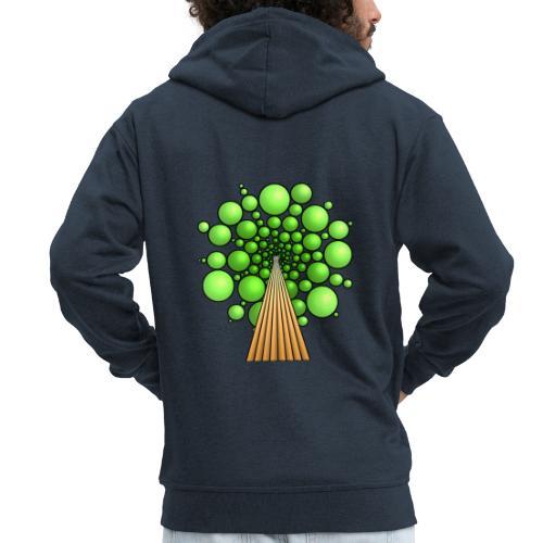 Kugel-Baum, 3d, hellgrün - Männer Premium Kapuzenjacke