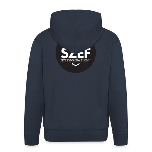 Logo-szef-utrzymania-ruchu_ok_net_black - Rozpinana bluza męska z kapturem Premium