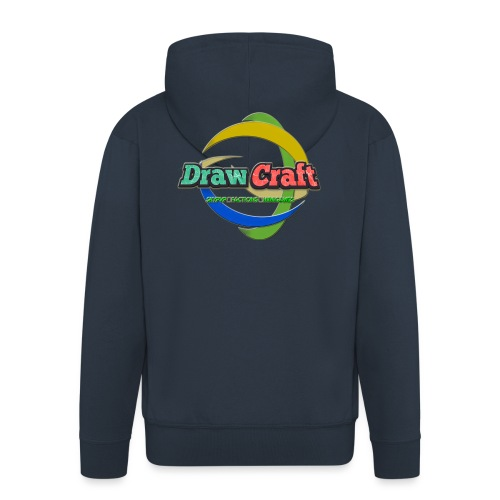T-Shirt DrawCraft - Felpa con zip Premium da uomo